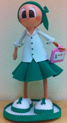Muñeca mensajera ASACO