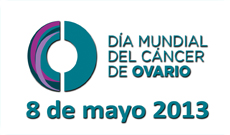 Logo Dia Mundial Cancer de Ovario ASACO 2013 blog