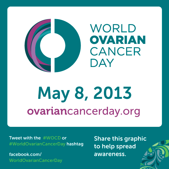 Logo Hashtag World Ovarian Cancer Day 8 May 2013 ASACO