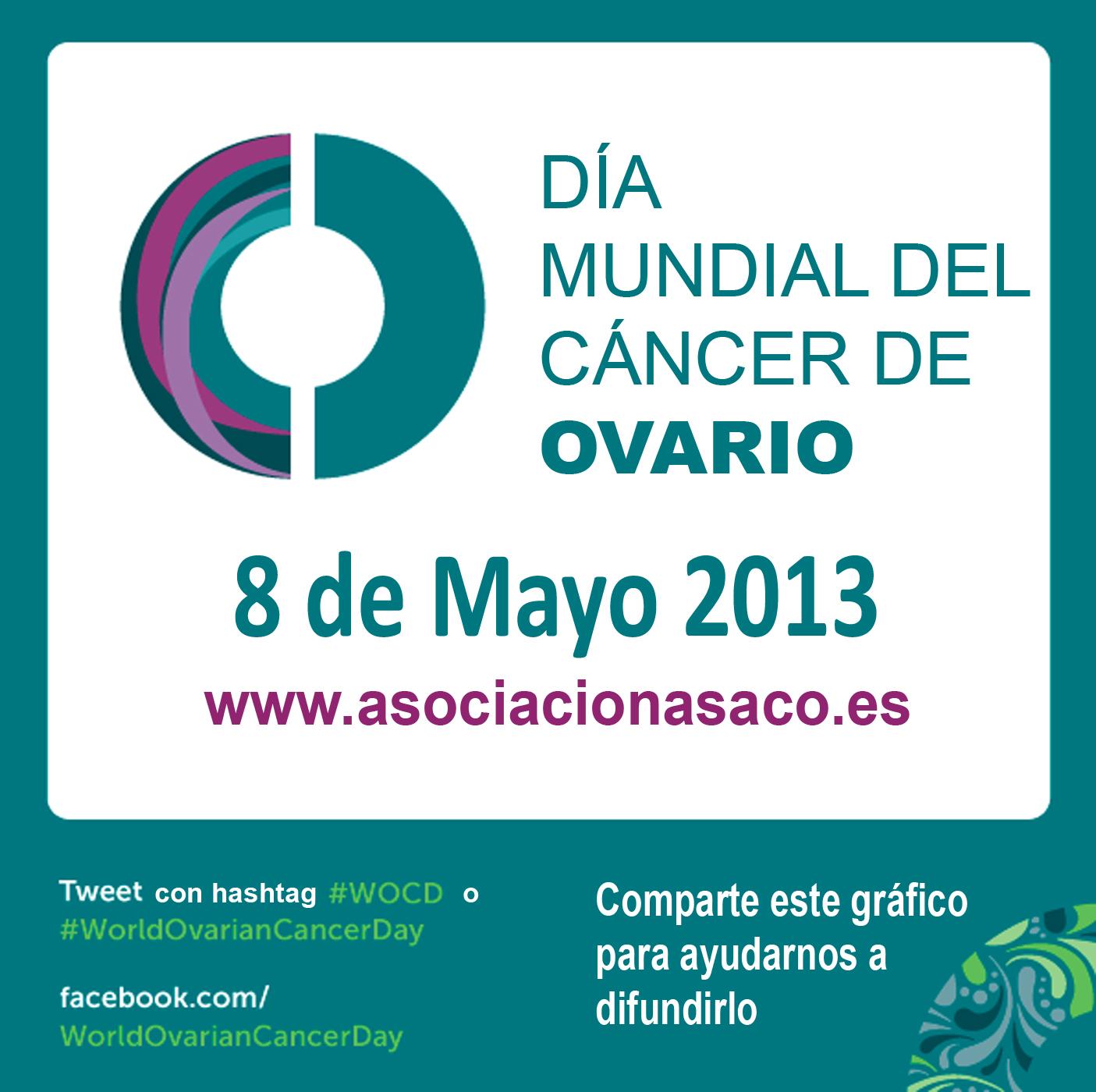 Logo dia mundial cancer de ovario ASACO castellan