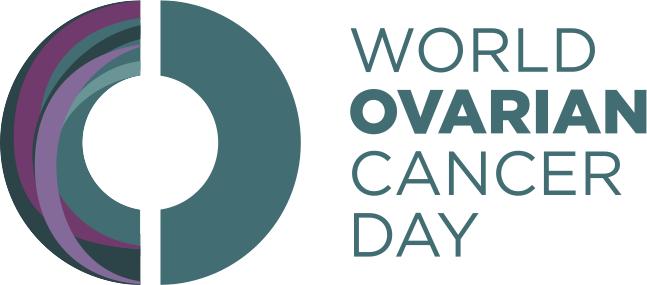 Logo ingles dia mundial cander de ovario 8 may ASACO