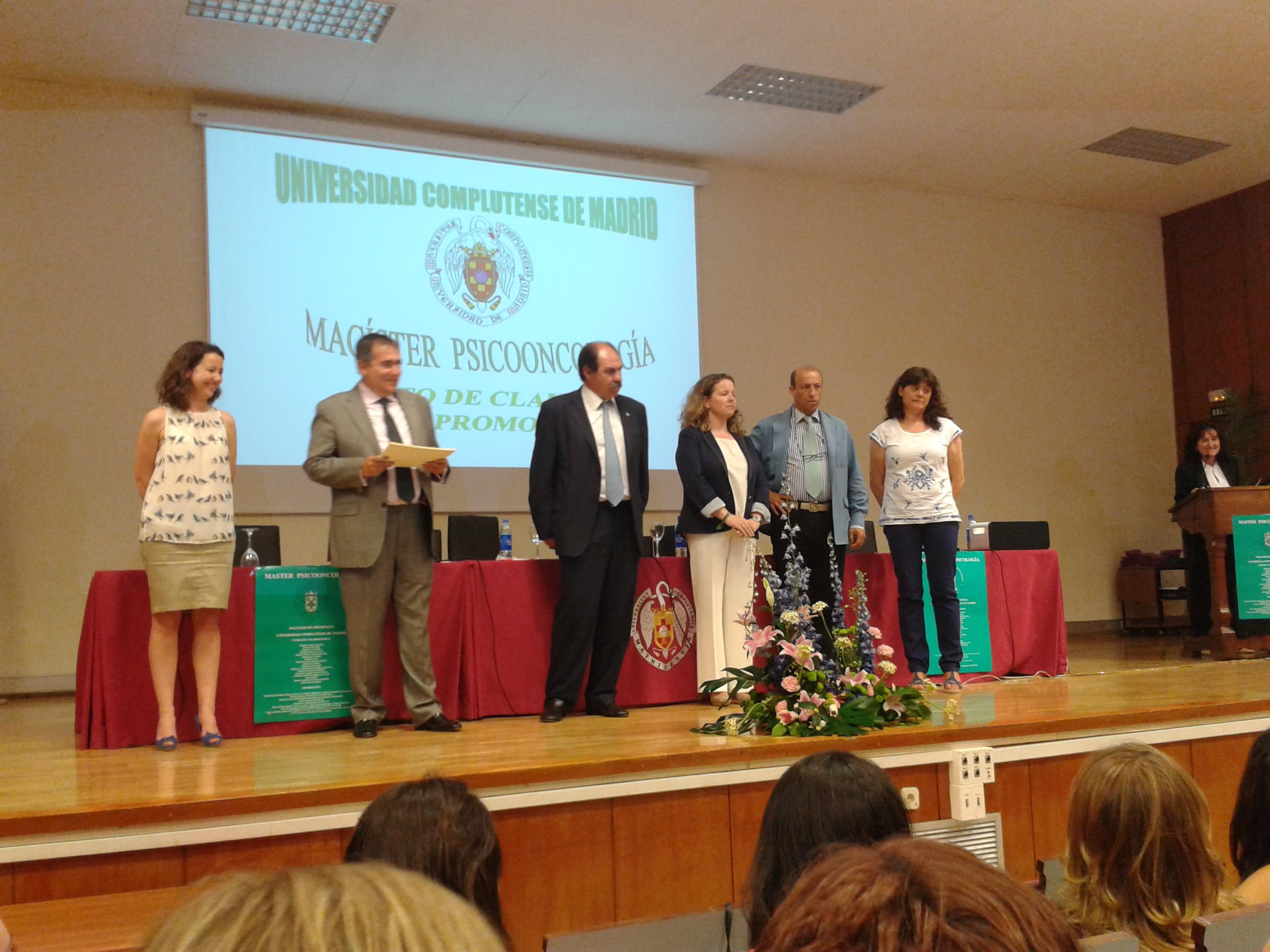 ASACO graduacion psicooncologia UCM 2013 diplomas