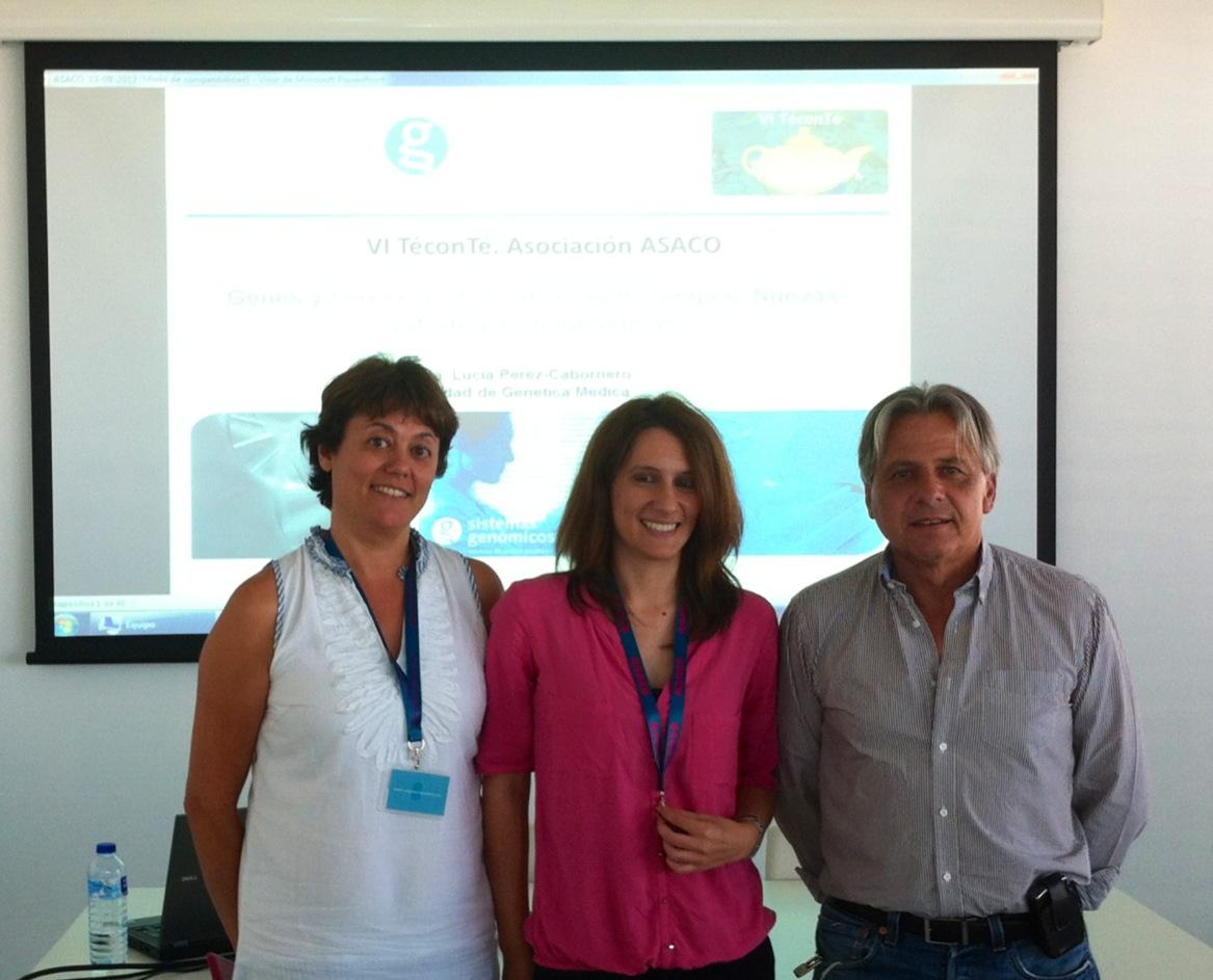 Teconte VI 13 sept 2013 ASACO Lucia Perez Cabornero Dr Juan Carlos Gonzalez