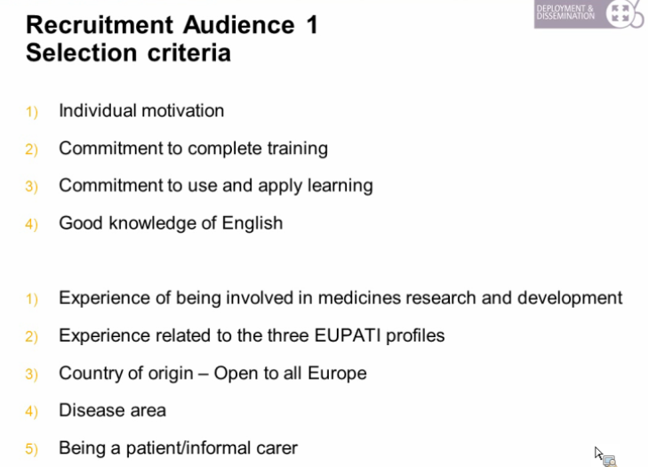 EUPATI Building knowledge competences patients involvement ASACO webinar 2013 3