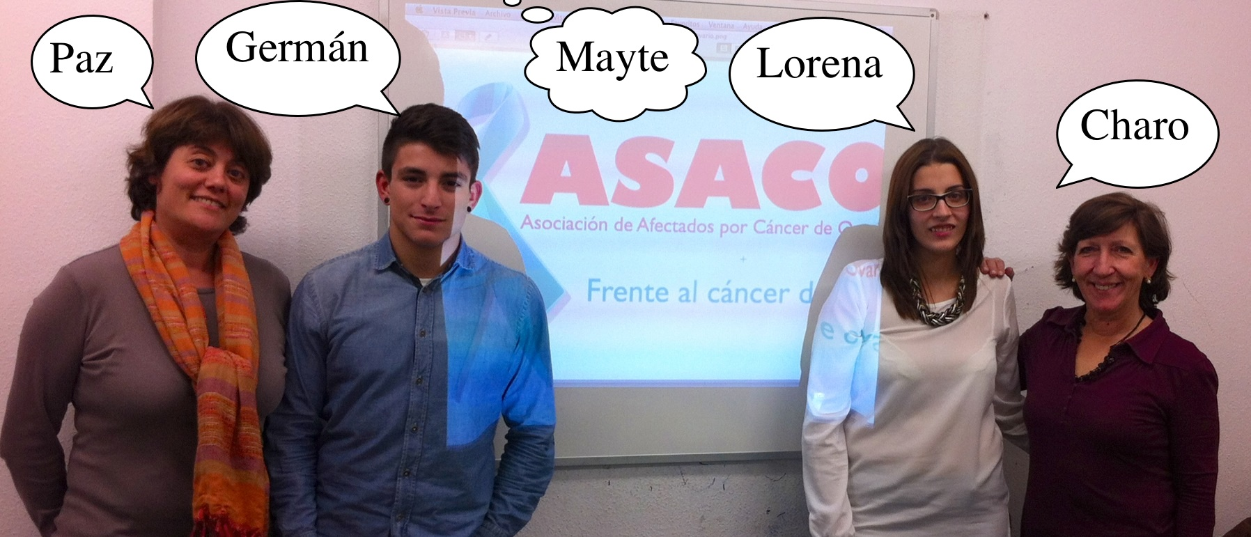 Estudiantes Gallegos ASACO cancer de ovario