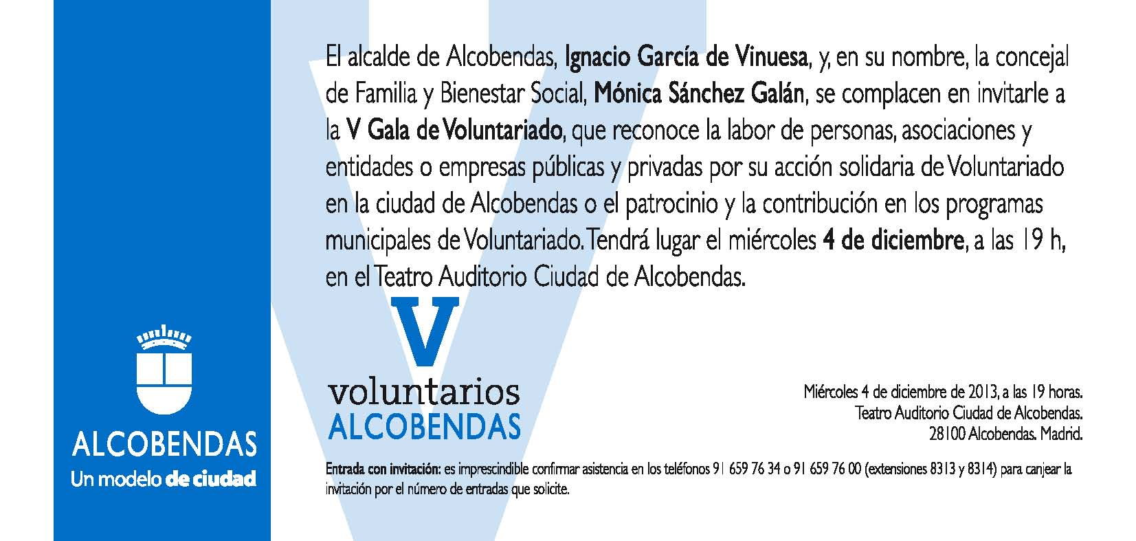 Invitacion V Gala Voluntario 2013 ASACO