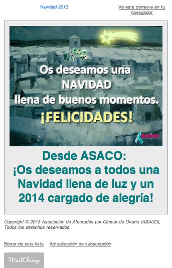 Newsletter ASACO Navidad 2013