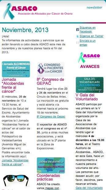 Newsletter ASACO 15 noviembre 2013