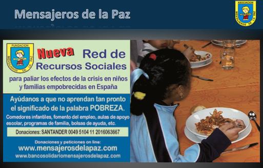 Mensajeros de la Paz Villoria Donacion Telefono Rojo Volamos hacia Paris cancer ovario ASACO 2014.