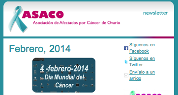 newsletter febrero 2014 cancer ovario ASACO 2014