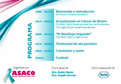 programa Barcelona-ASACO 13 marzo 2014 asaco cancer ovario 2