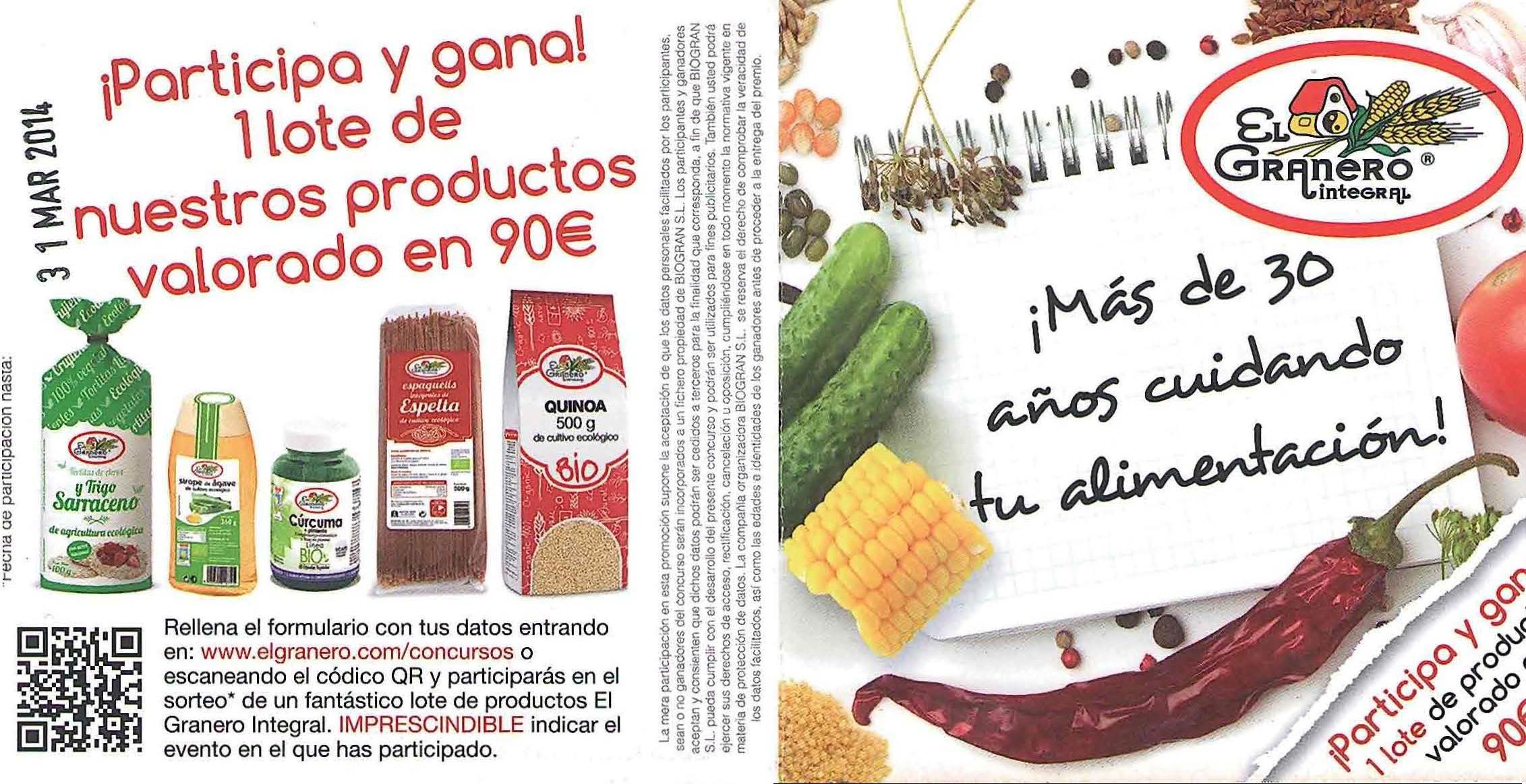 promocion1 el_granero_integral ASACO febrero 2014