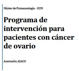 Programa intervencion ana preysler cancer ovario asaco 2014