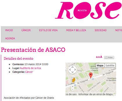 Revista Rose Illa ASACO Barcelona