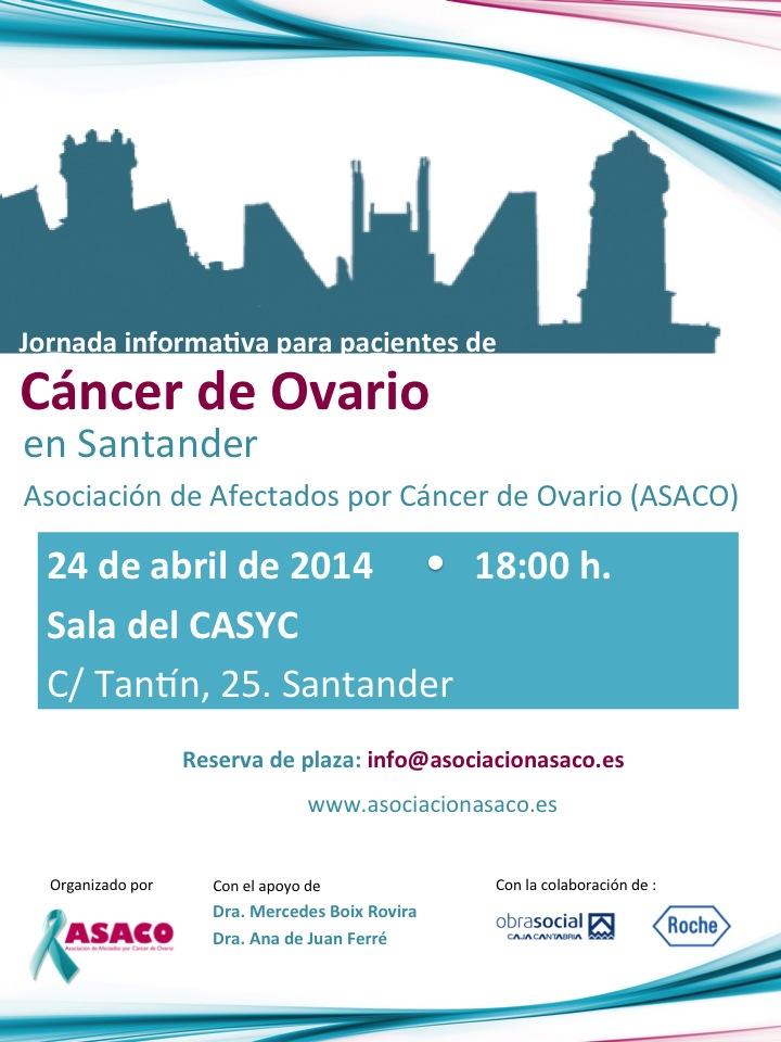 Santander Poster ASACO cancer ovario caja cantabria 2014