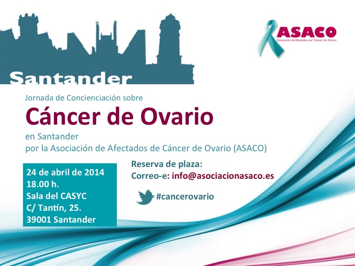 Santander Programa anverso ASACO cancer ovario caja cantabria 2014