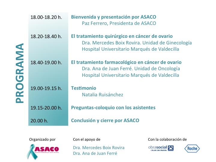 Santander Programa reverso ASACO cancer ovario caja cantabria 2014