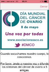 difusion womanlog dia mundial asaco 2014