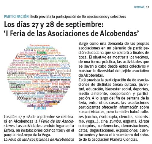 sietedias nº 1266 18 julio 2014 ASACo feria de alcobendas