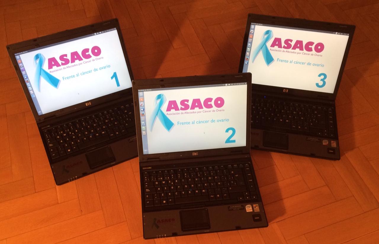 donacion especie 3 ordenadores roche asaco cancer ovario