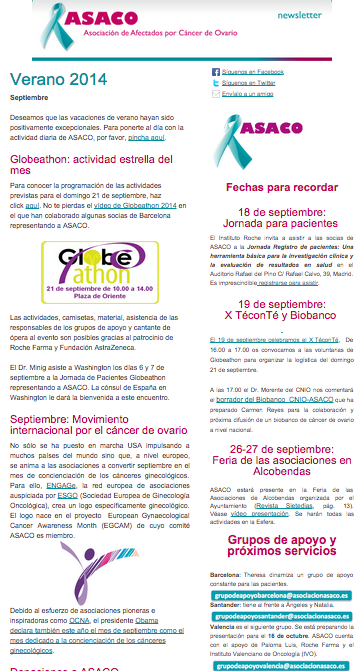 Newsletter ASACO septiembre 2014