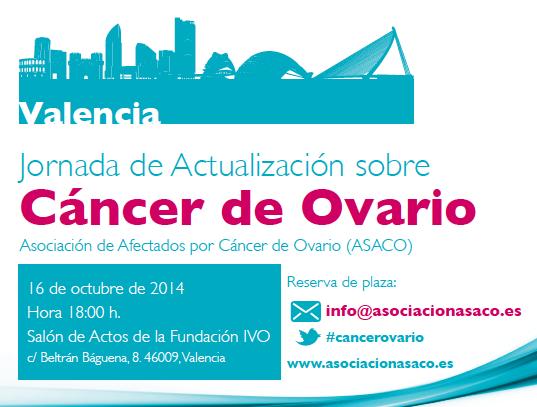 Programa Tarjeton Valencia 2014 asaco cancer ovario