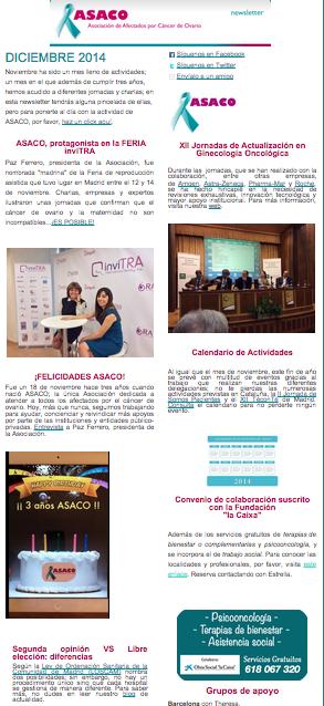 newsletter asaco cancer ovario diciembre 2014