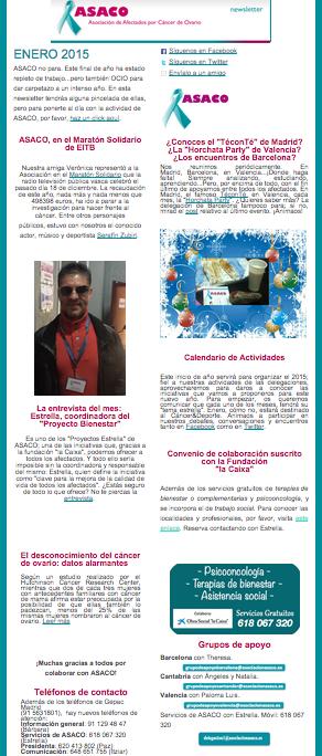 Newsletter enero 2015