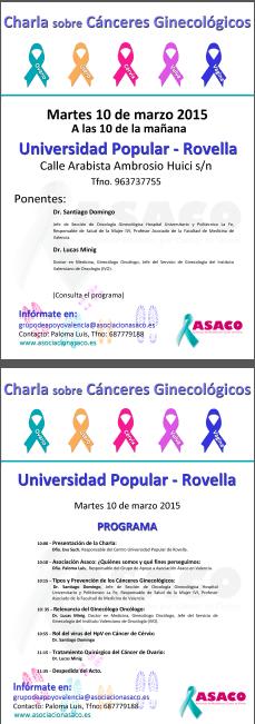 Charla Rovella Valencia cancer ovario ginecologico 2015