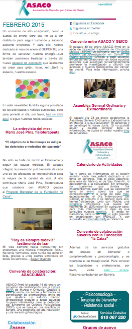 newsletter asaco febrero 2015 cancer ovario