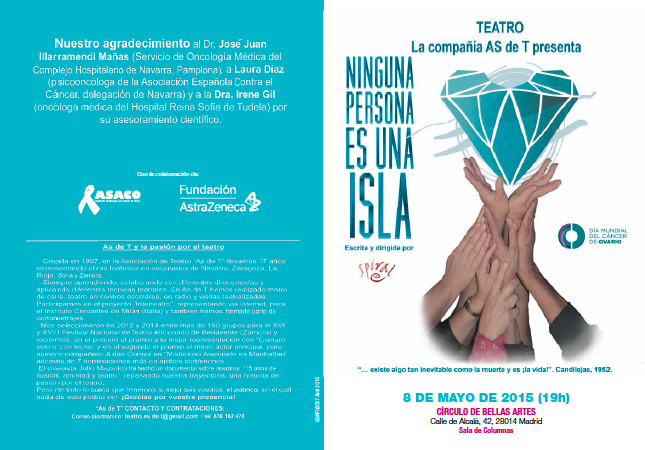Programa Ninguna persona es una isla AS de T Wit cancer ovario ASACO DMCO 2015 mini