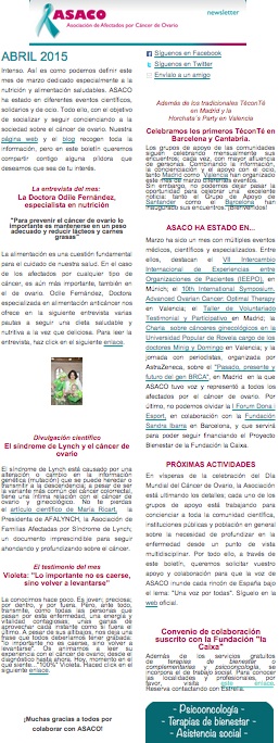 newsletter abril 2015 ASACO