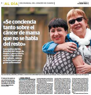 El Diario Vasco DMCO 2015 cancer ovario ASACO
