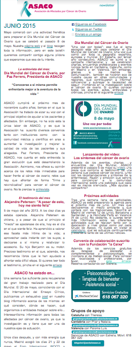 Newsletter junio 2015 ASACO