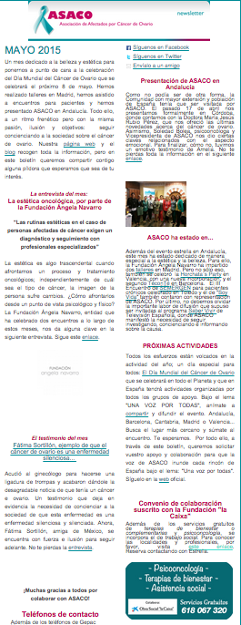 Newsletter mayo 2015