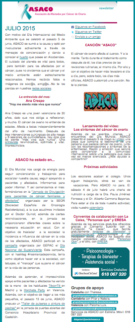 Newsletter julio ASACO