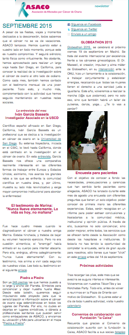 Newsletter sep 2015