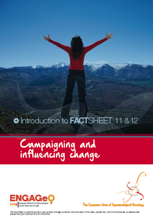 Factsheet 11_12 Campaigning and influencing change ENGAGe ASACO ESGO 2015