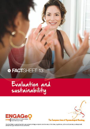 Factsheet 13_Evaluation and sustainability ENGAGe ASACO ESGO 2015