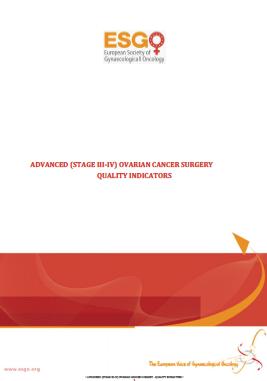 Indicadores cirugia cancer ovario avanzado 2015