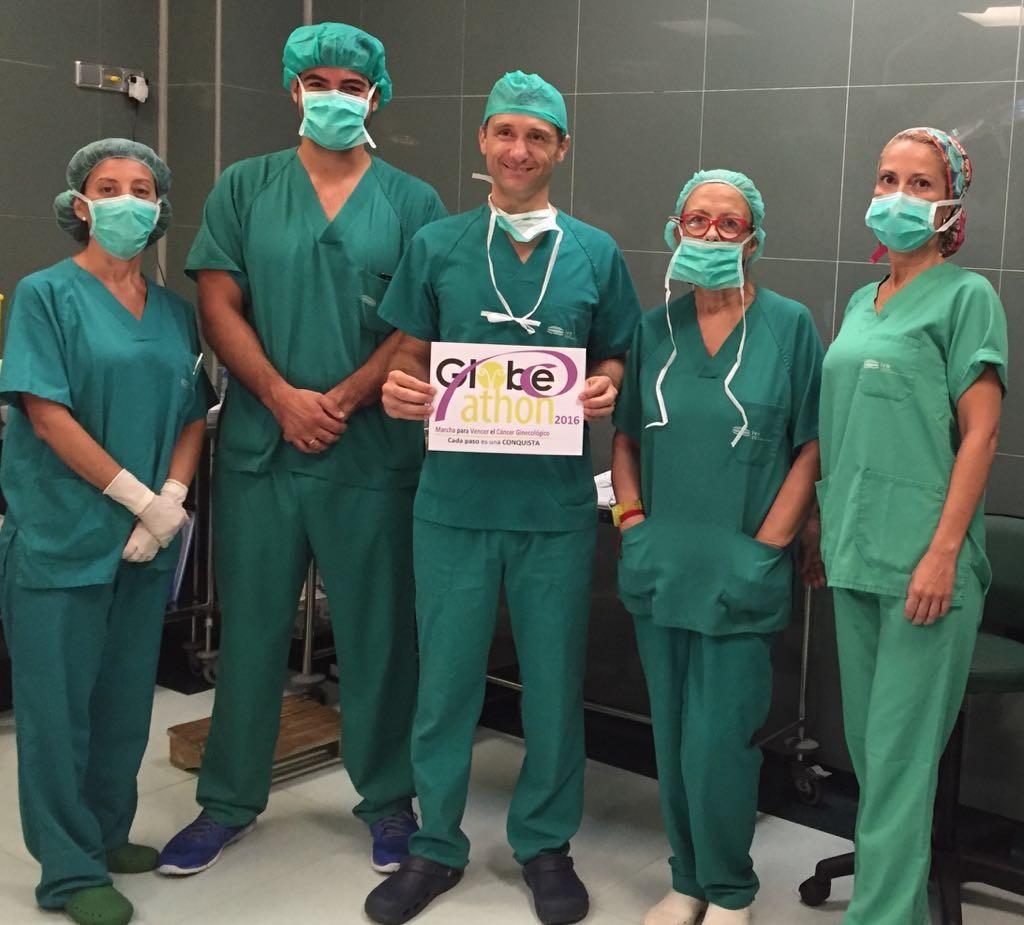 Desde el IVO, Valencia: El Dr. Lucas Minig, Responsable de Globeathon España, en equipo