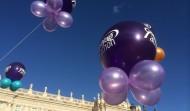 Los globos simbolizando los cánceres ginecológicos
